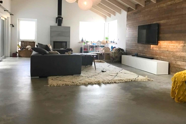 sichtbeton wohnzimmer - Betonboden Design