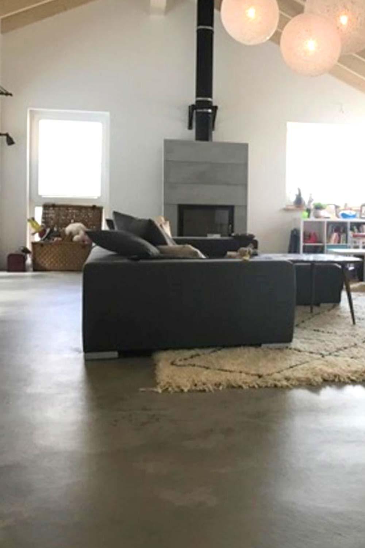 sichtestrich wohnzimmer - Betonboden Design